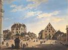 Domenico Quaglio (1787 - 1837) Die Alte Reitschule mit dem Café Tambosi im Jahr 1822, 1822