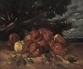 Gustave Courbet (1819 - 1877) Apfelstillleben, 1871