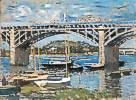 Claude Monet (1840 - 1926) Seinebrücke von Argenteuil, 1874