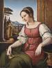 Friedrich Wilhelm von Schadow (1788 - 1862) Bildnis einer jungen Römerin (Angelina Magatti), 1818