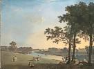 Richard Wilson (1714 - 1782) Blick über die Themse bei Richmond Gardens auf Syon House, um 1760/70