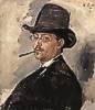 Wilhelm Leibl (1844 - 1900) Der Maler Carl Schuch, 1876