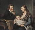 Johann Georg Edlinger (1741 - 1819) Familienbildnis
