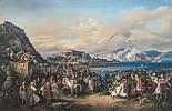 Peter von Hess (1792 - 1871) Einzug König Ottos von Griechenland in Nauplia, 1835