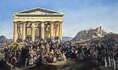 Peter von Hess (1792 - 1871) Empfang König Ottos von Griechenland in Athen, 1839