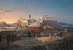 Leo von Klenze (1784 - 1864) Ideale Ansicht der Akropolis und des Areopag in Athen, 1846