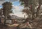 Johann Christian Reinhart (1761 - 1847) Die Erfindung des korinthischen Kapitells durch Kallimachos, 1846