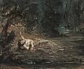 Eugène Delacroix (1798 - 1863) Der Tod der Ophelia, 1838