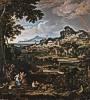 Joseph Anton Koch (1768 - 1839) Heroische Landschaft mit Regenbogen, 1812