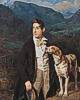 Ferdinand Georg Waldmüller (1793 - 1865) Waldmüllers Sohn Ferdinand mit Hund, 1836