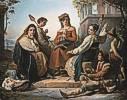 François-Joseph Navez (1787 - 1869) Die Spinnerinnen von Fondi, 1845