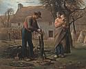 Jean-Francois Millet (1814 - 1875) Bauer beim Pfropfen eines Baumes, 1855