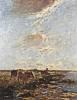Wenzel (Willem) Maris (1844 - 1910) Polderlandschaft mit Kühen (Sommertag), um 1890/1900