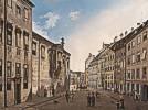 Domenico Quaglio (1787 - 1837) Die Residenzstraße gegen den Max-Joseph-Platz im Jahr 1826, 1826