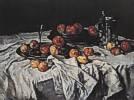 Carl Schuch (1846 - 1903) Stillleben mit äpfeln, Weinglas und Zinnkrug, um 1876