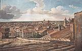 Johann Christian Reinhart (1761 - 1847) Blick von der Villa Malta in Rom nach Westen, 1835