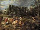 Peter Paul Rubens (1577 - 1640) Landschaft mit einer Kuhherde um 1618