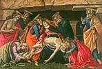 Sandro Botticelli (1445 - 1510) Beweinung Christi, um 1490