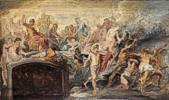 Peter Paul Rubens (1577 - 1640) Der Götterrat (Skizze zum Medicizyklus) 1622