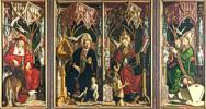 Michael Pacher (1435 - 1498) Kirchenväteraltar, um 1480