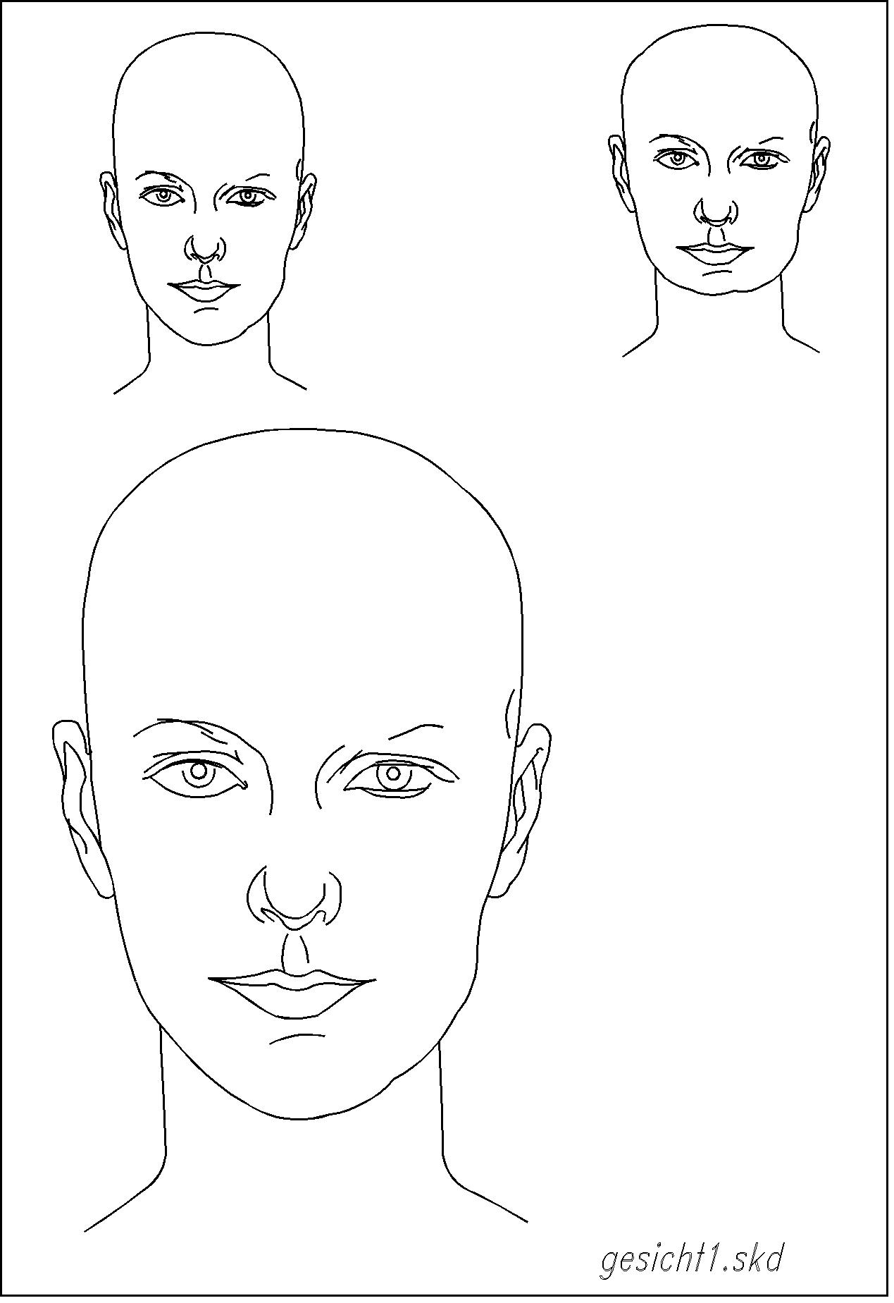 Topmodel Ausmalbilder Gesicht : Gro Z Gig Gesicht Malen Vorlagen Fotos Beispiel Business