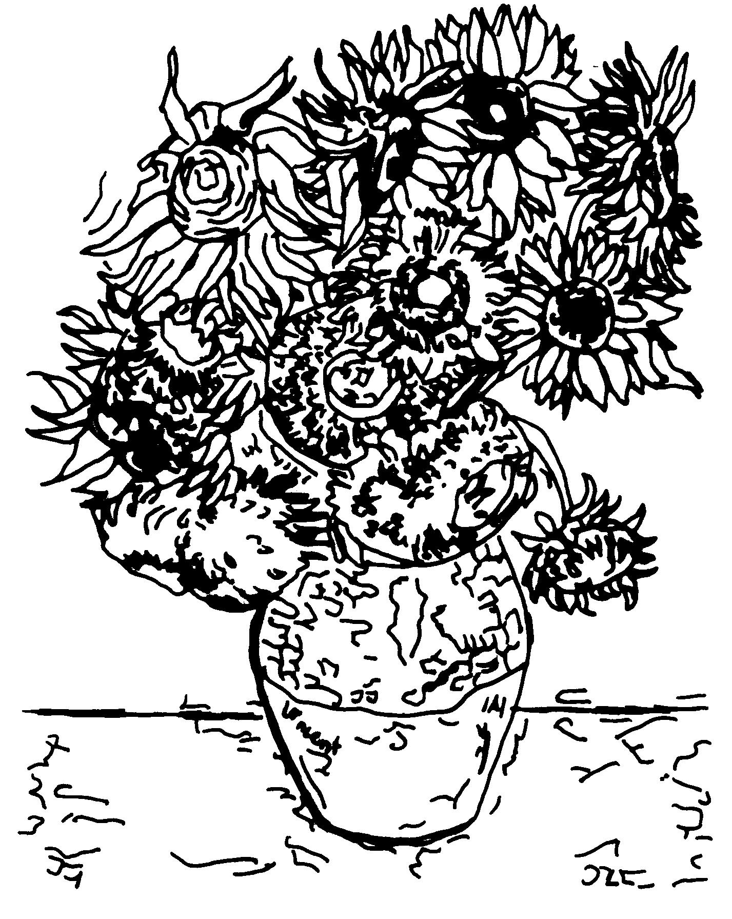 Großzügig Sonnenblume Malvorlagen Van Gogh Fotos - Beispiel ...